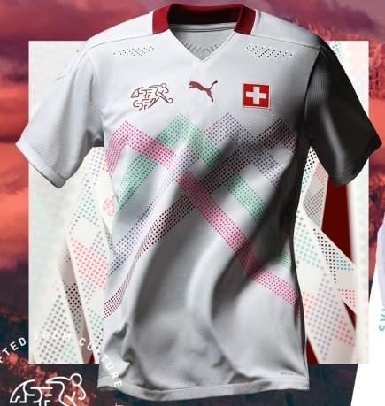 Switzerland EURO 2020 2021 PUMA Away Football Kit, Soccer Jersey, Shirt, Maillot, Trikot, Maglia, Gara