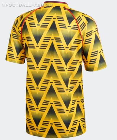 Reissue: Arsenal 1991 - 1993 'Bruised Banana' Yellow adidas Away Football Kit, Soccer Jersey, Shirt, Maillot, Camiseta, Camisa, Trikot