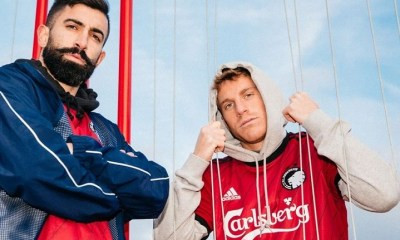 FC Copenhagen 2020 adidas Red Third Football Kit, Soccer Jersey, Shirt, Spilletrøje, Trøjer