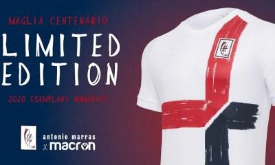 Cagliari Calcio 100th Anniversary Macron Football KIt, Soccer Jersey, Shirt, Maglia Gara Centenario