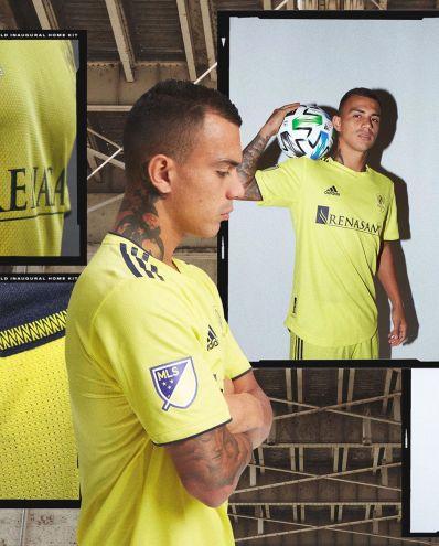 Nashville Soccer Club 2020 MLS Gold adidas Home Jersey, Shirt, Kit, Camiseta de Futbol