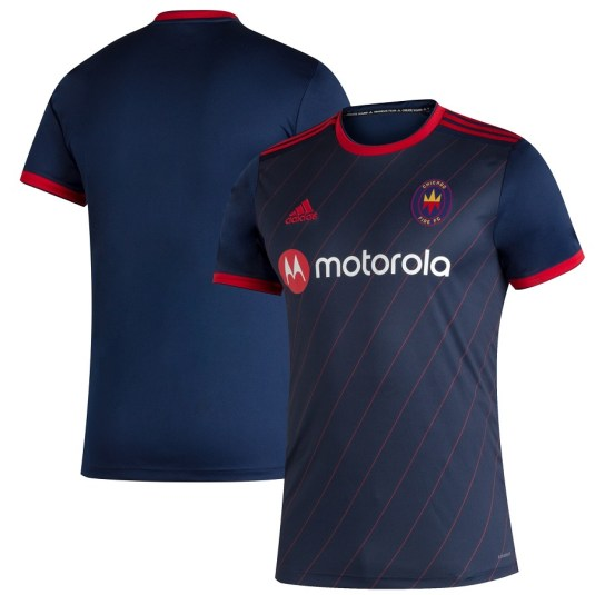 Chicago Fire 2020 adidas Home Soccer Jersey, Football KIt, Shirt, Camiseta de Futbol