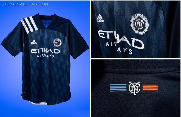 New York City FC 2020 2021 adidas 'Gotham' Away Soccer Jersey, Shirt, Football Kit, Camiseta de Futbol MLS
