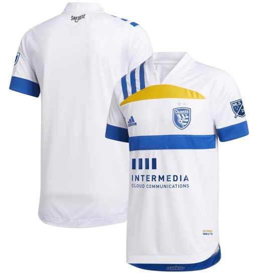 San Jose Earthquakes 2020 adidas 408 Edition Away Football Kit, Soccer Jersey, Shirt, Camiseta de Futbol MLS
