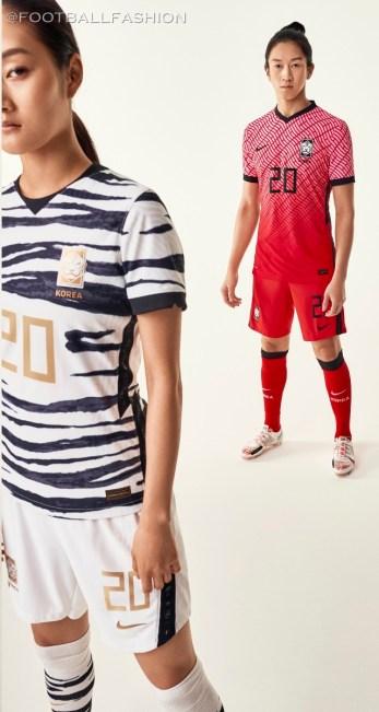 South Korea 2020 2021 Nike Home and Away Football Kit, Soccer Jersey, Shirt
