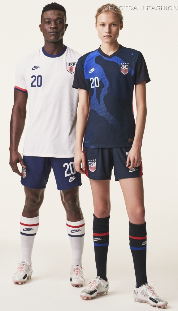 Usa 2020 21 Nike Home And Away Jerseys Football Fashion