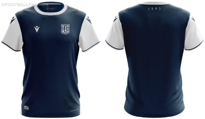 Dundee FC 2020 2021 Macron Home Football Kit, Soccer Jersey, Shirt
