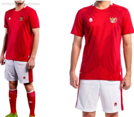 Indonesia 2020 2021 Mills Sport Home Football Kit, Soccer Jersey, Shirt