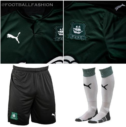 Plymouth Argyle 2020 2021 PUMA Home Football Kit, Soccer Jersey, Shirt