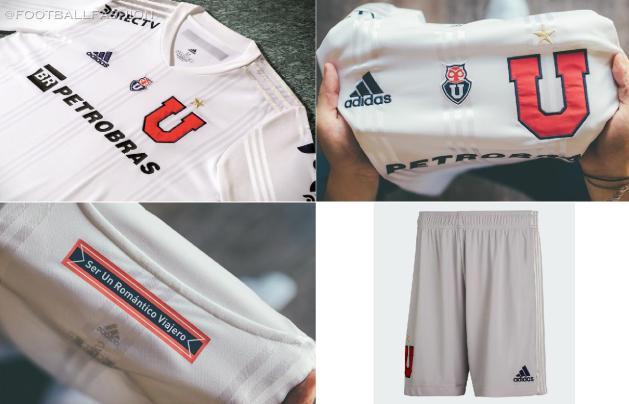 Club Universidad de Chile 2020 2021 adidas Away Football Kit, Soccer Jersey, Shirt, Camiseta de Futbol