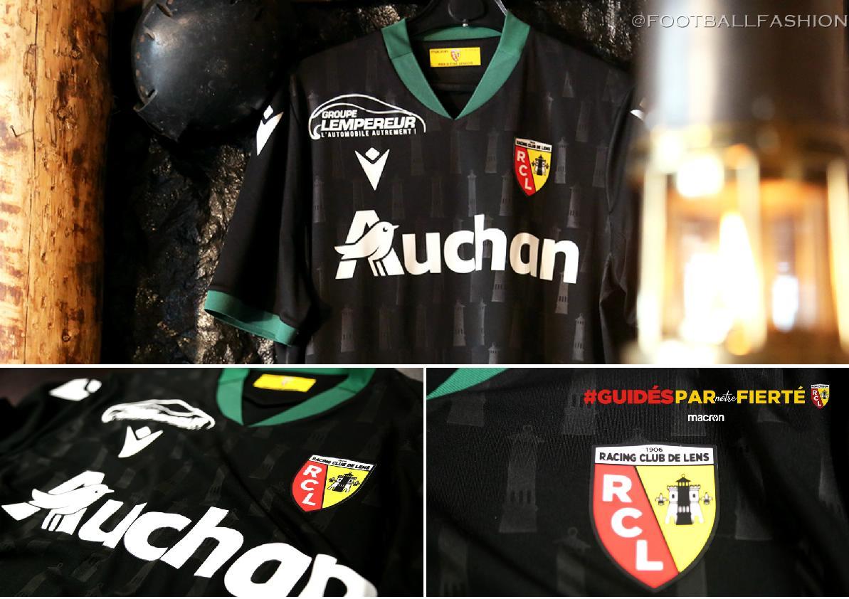 Rc Lens 2020 21 Macron Away Kit Football Fashion