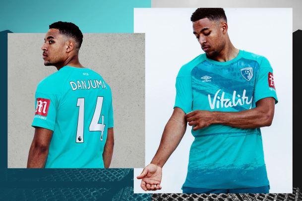AFC Bournemouth 2020 2021 Umbro Away Football Kit, 2020/21 Soccer Jersey, 2020-21 Shirt