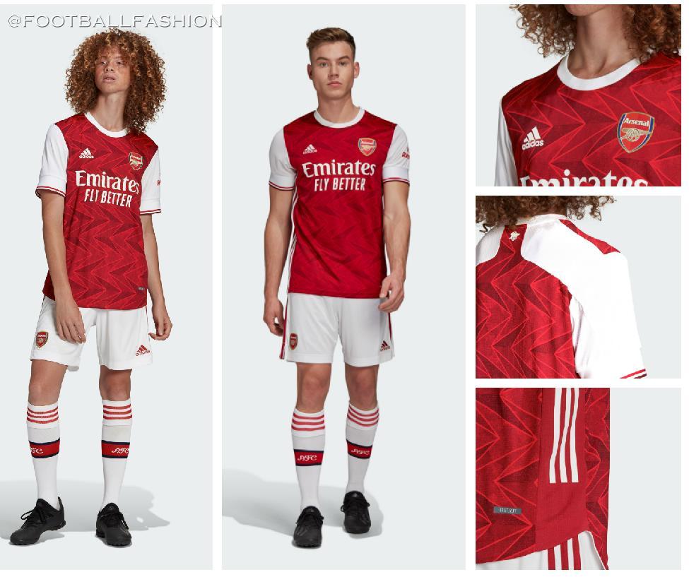 Arsenal 2020 21 Adidas Home Kit Football Fashion