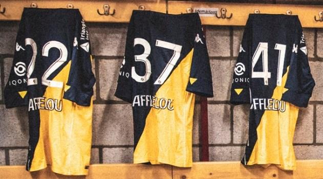 AS Monaco 2020/21 Kappa Away Kit, 2020 2021 Soccer Jersey, Football Shirt, Maillot