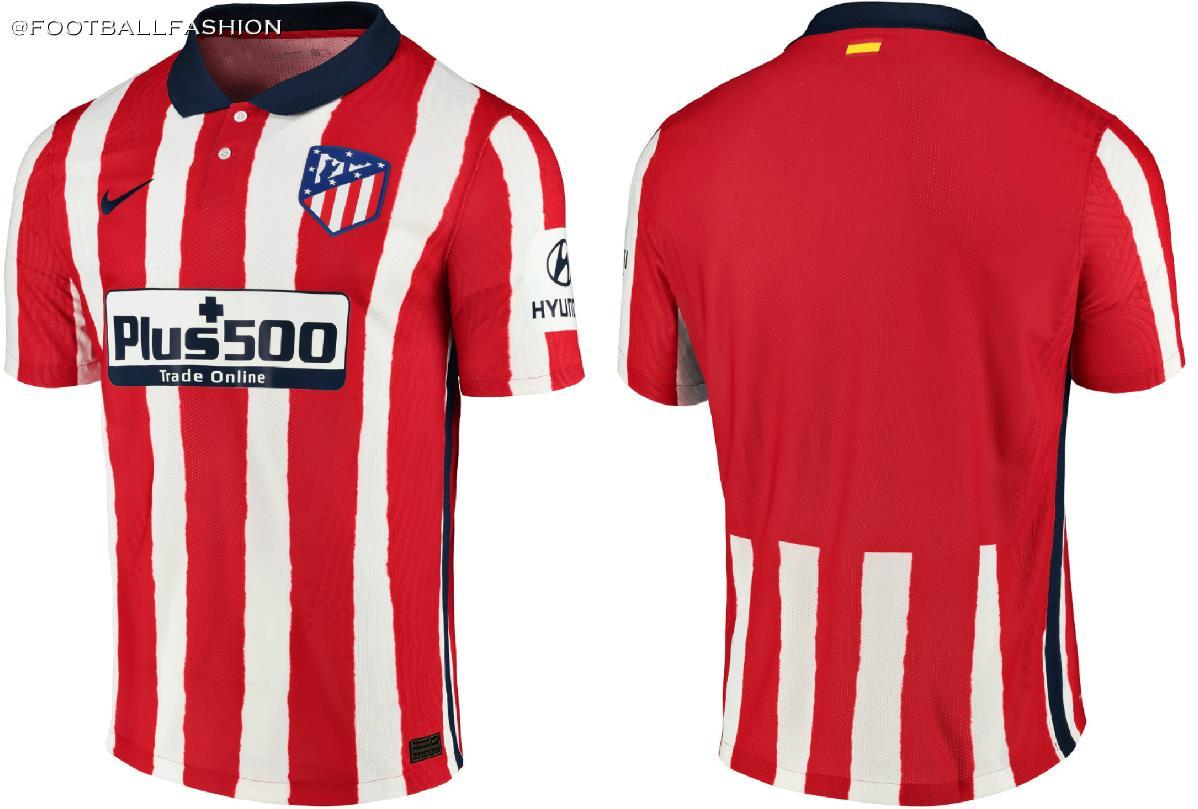Atletico De Madrid 2020 21 Nike Home Kit Football Fashion