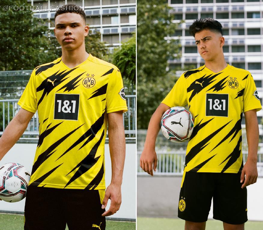 Borussia Dortmund 2020 21 Puma Home Kit Football Fashion