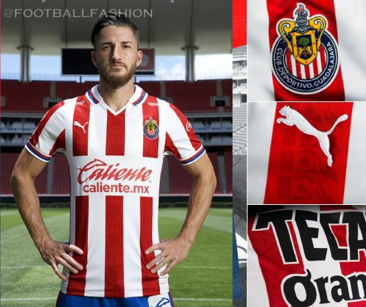 Chivas de Guadalajara 2020 2021 PUMA Home and Away Soccer Jersey, 2020/21 Shirt, 2020-21 Football Kit, Camiseta de Futbol, Equipacion