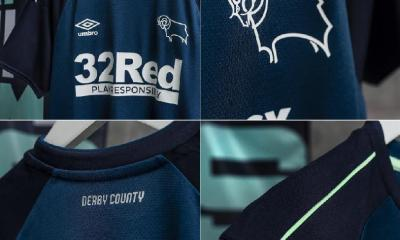 Derby County 2020 2021 Umbro Away Football Kit, 2020/21 Shirt, 2020-21 Soccer Jersey