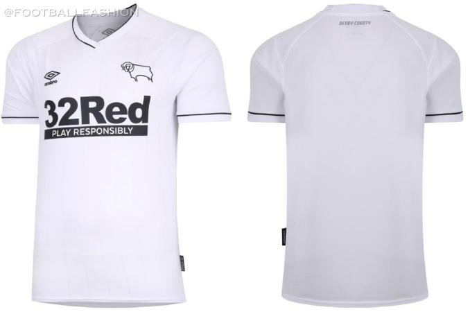 Derby County 2020 2021 Umbro Home Football Kit, 2020-21 Soccer Jersey, 2020/21 Shirt