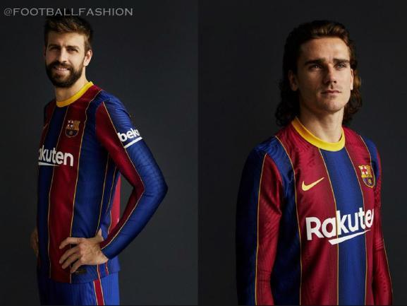 FC Barcelona 2020 2021 Nike Home Football Kit, 2020-21 Soccer Jersey, 2020/21 Shirt, Camiseta, Equipacion, Camisa, Maillot, Trikot, Tenue