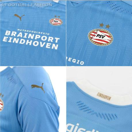 PSV Eindhoven 2020 2021 PUMA Away Football Kit, Soccer Jersey, 2020-21 Shirt, 2020/21 Uitshirt