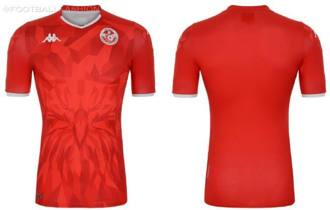 Tunisia 2020 2021 Kappa Home and Away Football Kit, 2020/21 Soccer Jersey, 2020-21 Shirt, Maillot Tunisie