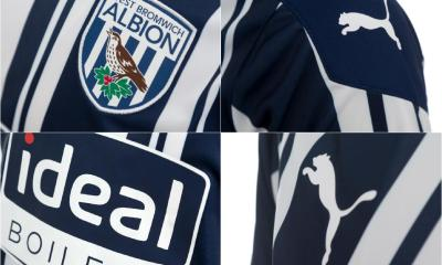 West Bromwich Albion 2020 2021 PUMA Home Football Kit, 2020-21 Soccer Jersey, 2020/21 Shirt