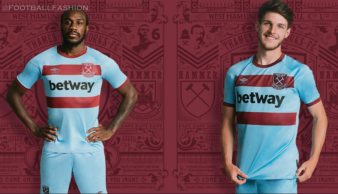 West Ham 2020/21 Umbro Away Kit - FOOTBALL FASHION