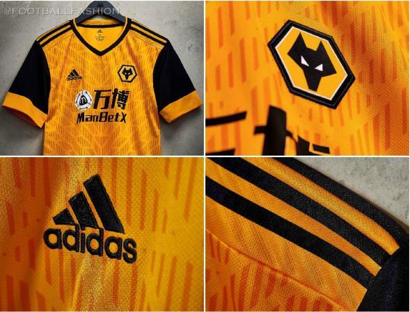 Wolverhampton Wanderers 2020 2021 adidas Home Football Kit, 2020-21 Soccer Jersey, 2020/21 Shirt, Camiseta, Camisa, Camisola