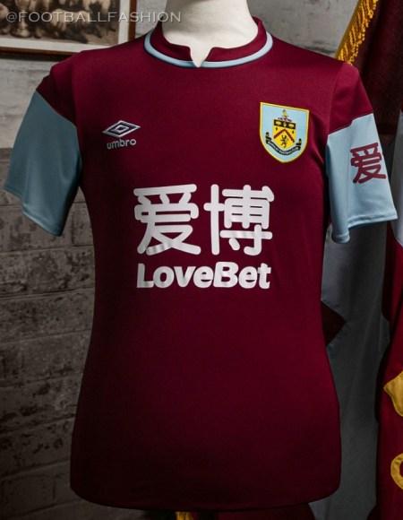 Burnley FC 2020 2021 Umbro Home Kit, 2020-21 Football Shirt, 2020/21 Soccer Jersey