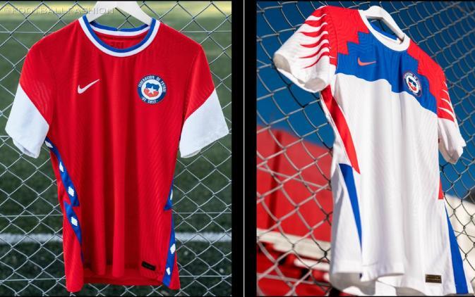 Chile 2020 2021 Nike Home and Away Football Kit, 2020/21 Soccer Jersey, 2020-21 Shirt, Camiseta