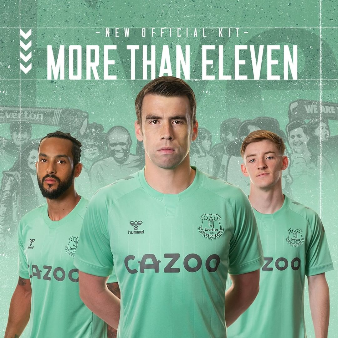 Everton Fc 2020 21 Hummel Third Kit Football Fashion