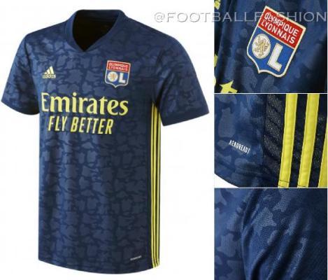 Olympique Lyon 2020 2021 adidas Third Football Kit, 2020-21 Soccer Jersey, 2020/21 Shirt, Maillot