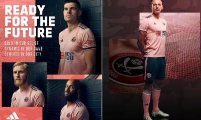 Sheffield United 2020 2021 adidas Pink Away Football Kit, 2020-21 Soccer Jersey, 2020/21 Shirt