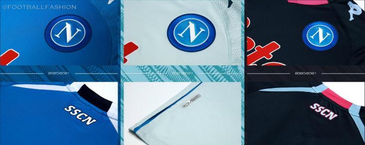 SSC Napoli 2020 2021 Kappa Home, Away and Third Football Kit, 2020/21 Shirt, 2020-21 Jersey, Maglia, Gara, Camiseta, Camisa