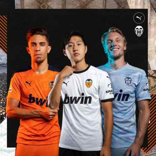 Valencia 2020 2021 PUMA Home, Away and Third Football Kit, 2020-21 Soccer Jersey, Shirt, Camiseta 2020/21, Maillot, Trikot, Maglia