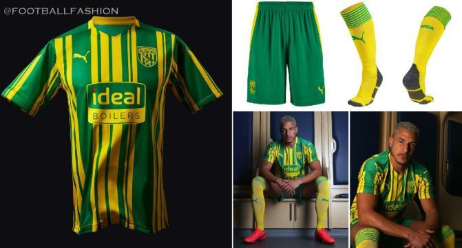 West Bromwich Albion 2020 2021 PUMA Away Football Kit, 2020-21 Soccer Jersey, 2020/21 Shirt
