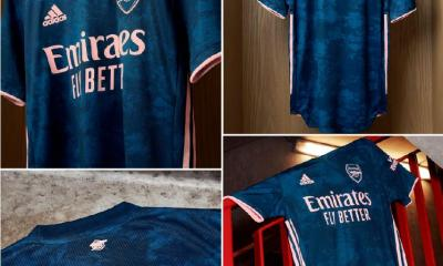 Arsenal FC 2020 2021 adidas Third Football Kit, 2020/21 Shirt, 2020-21 Soccer Jersey, Maillot, Camiseta, Camisa, Trikot, Tenue