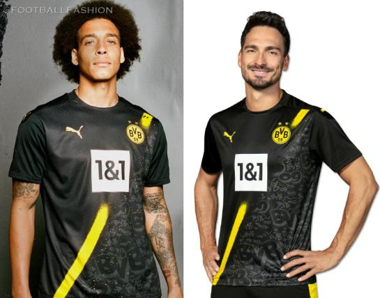 Borussia Dortmund 2020/21 PUMA Away Bundesliga Football Kit, 2020-21 Soccer Jersey, 2020/21 Shirt, Trikot, Auswärtstrikot