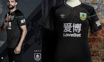 Burnley FC 2020 2021 Umbro Black Away Kit, 2020-21 Football Shirt, 2020/21 Soccer Jersey