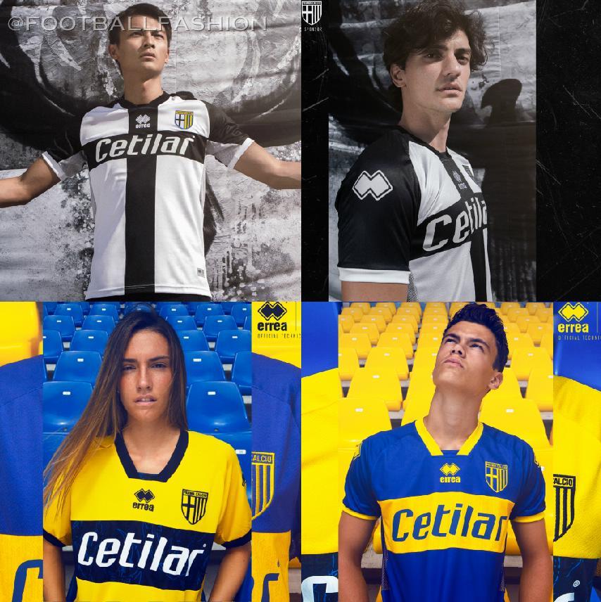 Parma Calcio 2020/21 Erreà Home and Away Kits - FOOTBALL ...