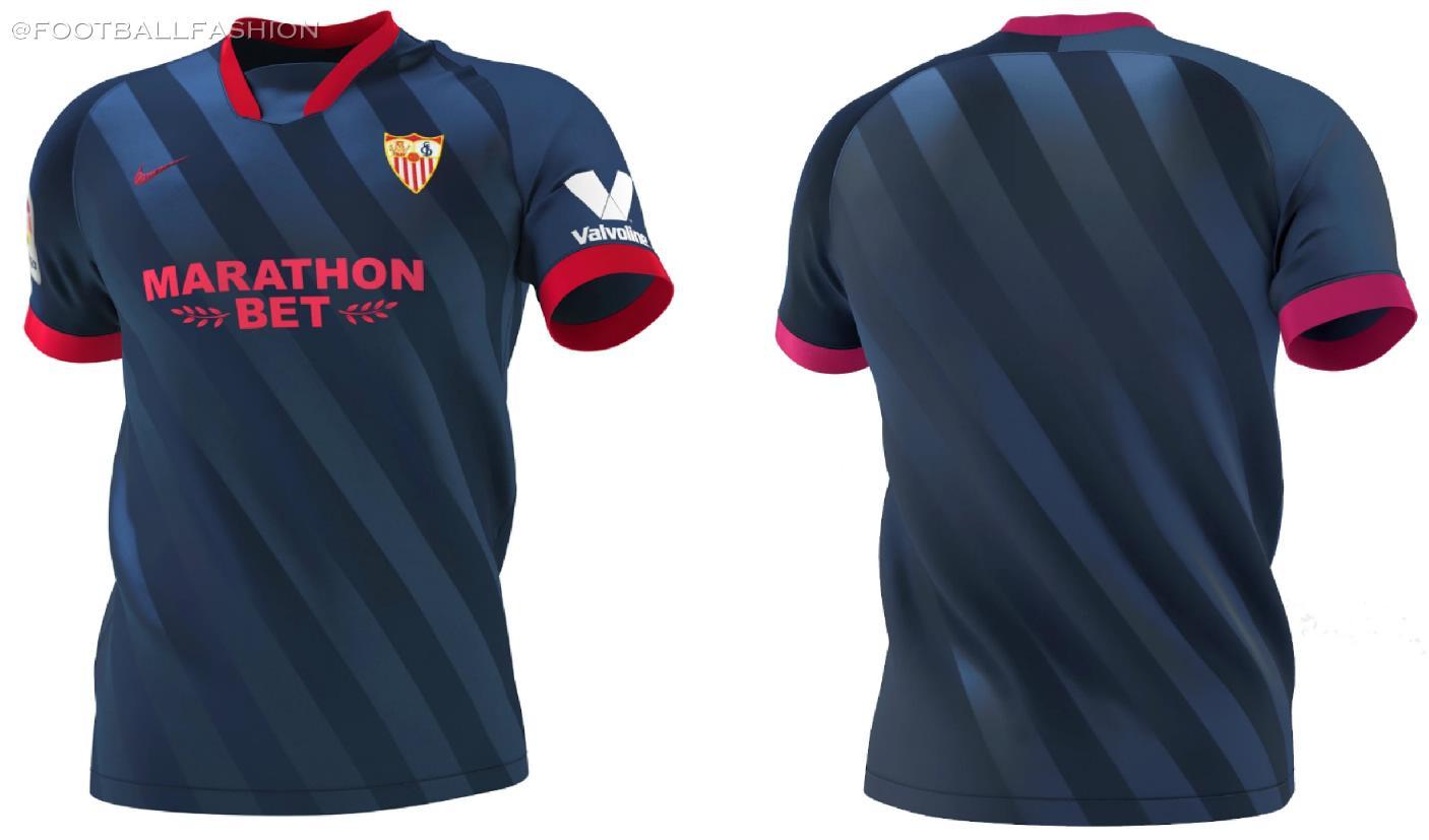 Sevilla Fc 2020 21 Nike Home Away And Third Kits Football Fashion Org