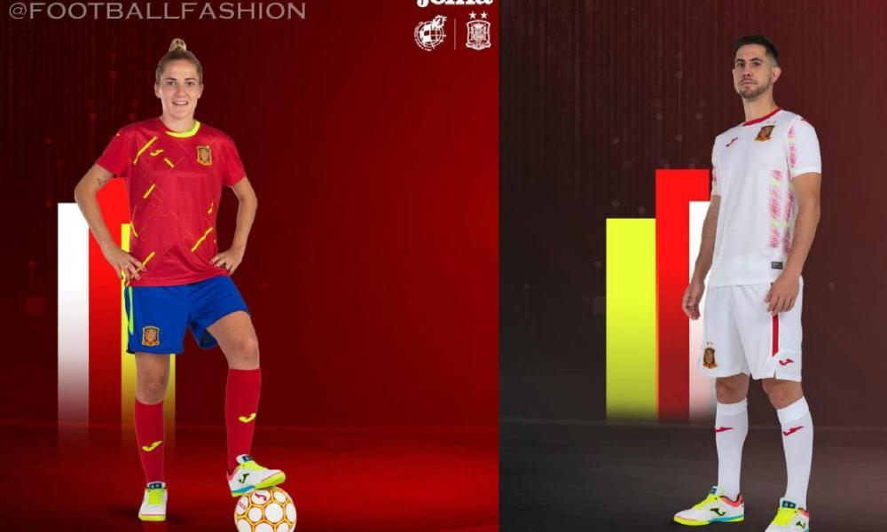 Spain 2020 2021 Joma Home and Away Futsal Kit, 2020/21 Soccer Jersey, Shirt, 2020-21 Camiseta, Equipacion