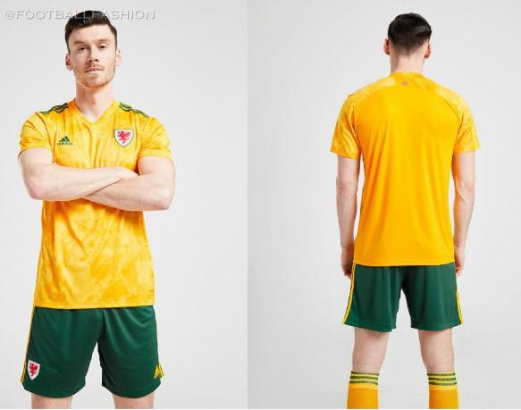 Wales 2020 2021 adidas Away Football Kit, 2020-21 Soccer Jersey, 2020/21 Shirt