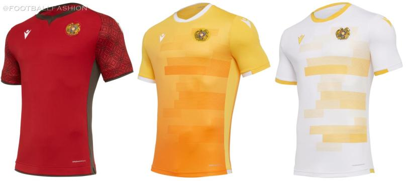 Armenia 2020 2021 Macron Home, Away and Third Football Kit, 2020-21 Soccer Jersey, 2020/21 Shirt