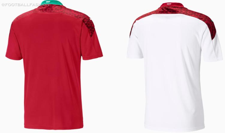 Morocco 2020 2021 PUMA Home and Away Football Kit, 2020-21 Shirt, 2020/21 Soccer Jersey, Maillot
