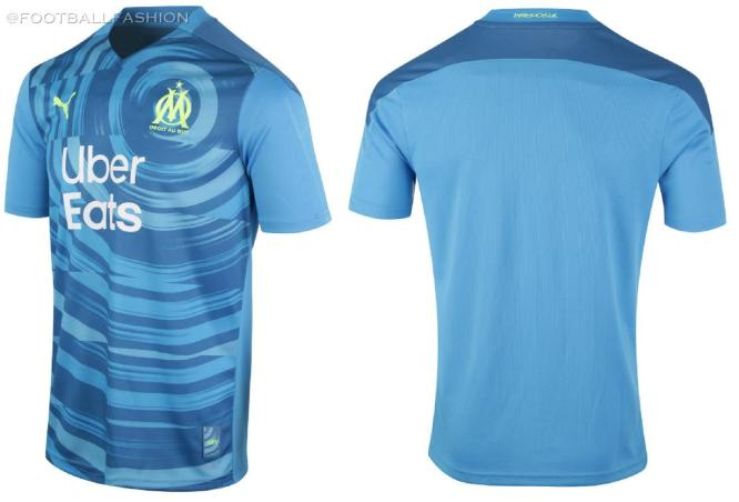 Olympique Marseille 2020 2021 PUMA Third Champions League Football Kit, 2020-21 Soccer Jersey, 2020/21 Shirt, Maillot