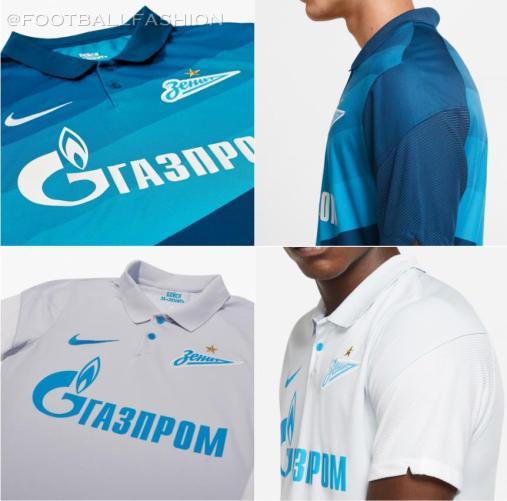 FC Zenit 2020 2021 Nike Home and Away Football Kit, 2020-21 Soccer Jersey, 2020/21 Shirt