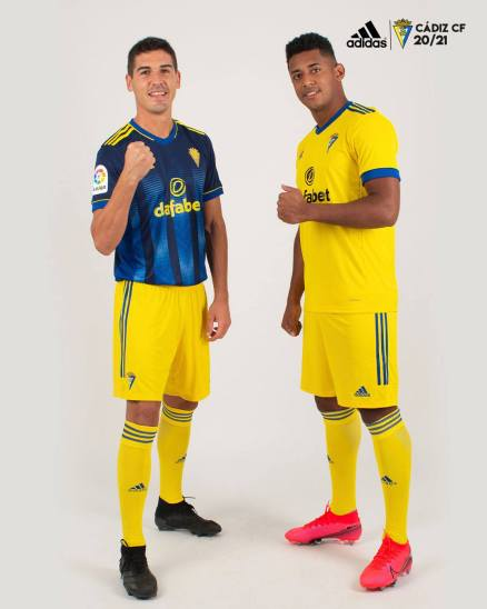 Cádiz CF 2020 2021 adidas Home and Away Football Kit, 2020-21 Soccer Jersey, 2020/21 Shirt. Camiseta de Futbol
