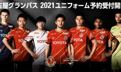 Nagoya Grampus 2021 Mizuno Home Football Kit, Soccer Jersey, Shirt